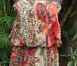 paisley leopard tube tunic/top